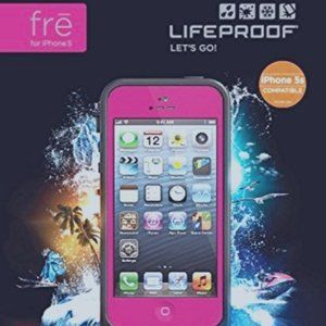 LifeProof Indestructible Case for iPhone 5s - Magenta Preowned Great Condition